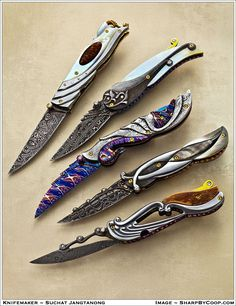 Photos - SharpByCoop's Gallery of Handmade Knives Pretty Knives, Cool Knives, Swords And Daggers, Knives And Swords, Knife Aesthetic, Memes Arte, Armas Ninja, Knife Stand, Engraved Pocket Knives