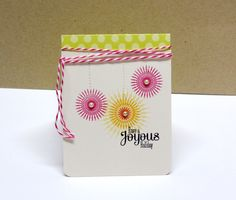 Joyous Holiday Card by Danielle Flanders for Papertrey Ink (October 2012)