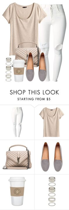 """Style #10668"" by vany-alvarado ❤ liked on Polyvore featuring (+) PEOPLE, H&M, Yves Saint Laurent, WALL and Forever 21"