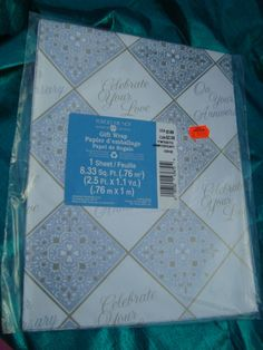 Vintage Anniversary Gift Wrap American Greetings by ShoppingLounge