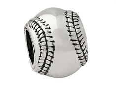 Reflections Sterling Silver Baseball Bead / Charm