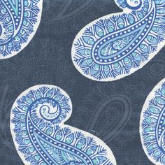 This is a beautiful blue slub paisley drapery fabric by Premier Prints. This fabric is perfect for any home decorating project.v114NAF