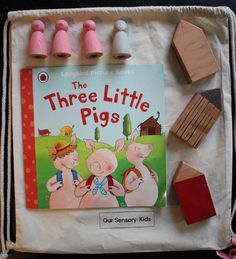 The Three Little Pigs story sack Map Nursery, Nursery Rhymes, Three Little Pigs Story, Story Sack, Barnyard Party, Eco Friendly Paint, Third Grade Science, Physics Classroom, Educational Activities For Kids