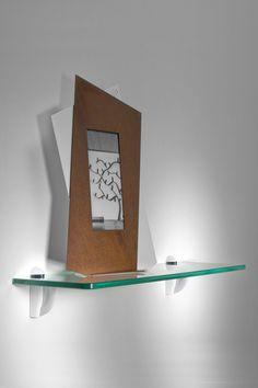 Rectangle Floating Glass Shelf 8 X 24