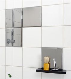 Mirror Tile Decoration  Add Mirror Tiles To Shower Wall... Keep Jakeu0027s  Beard Trimming To The Shower   Home   Pinterest   Mirror Tiles, Decoration  And Walls