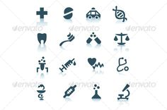 Gray medicine icons on white background - Miscellaneous #Icons Download here: https://graphicriver.net/item/gray-medicine-icons-on-white-background/58766?ref=alena994