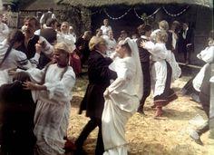 Polish Wedding: A scene from the film by Zbigniew Kuźmiński Nad Niemnem (By the Niemen River), 1986 Polish Wedding Traditions, Wedding Rituals, Eastern Europe, Love And Marriage, Fn, Wedding Planning, Scene, Culture, Poland