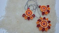 Paper quilled jewelry - South love on FB by Aparna Bhaskar