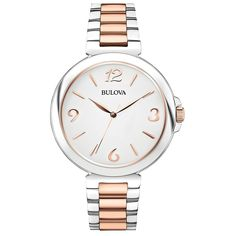 Bulova 98L195 Ladies Dress Two Tone Steel Bracelet Watch *** Tried it! Love it! Click the image.