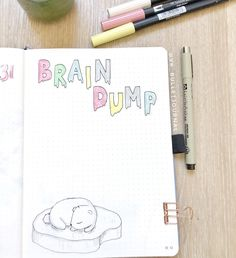 #dingbatsnotebooks #journaling #showmeyourplanner #bulletjournal #bujo #bujoinsperation #planneraddict #bujo2019 #bujocommunity #plannercommunity #stationeryaddict #bulletjournaljunkies #fountainpen #diary #planning #penaddict #fineliner #plannerlove #bulletjournaling #plannernerd #ecofriendly #bujojunkies #weeklyspread #bujobeauty #planwithme #plannerlife #bujogram #fpgeeks #fountainpenaddict Bullet Journal Junkies, Bullet Journal Inspo, My Journal, Brain Dump, Weekly Spread, Life Planner, Bujo, Doodles, Notebook