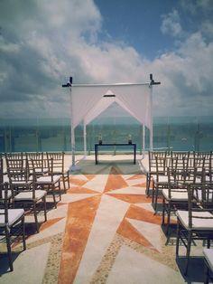 Beach Palace Resort, Cancun. Rooftop wedding venue. https://www.facebook.com/BlissfulMoons