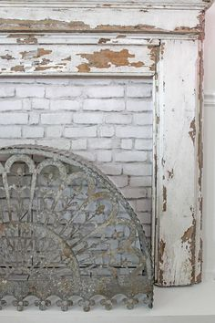 How to seal chippy paint and build a custom fireplace surround for a vintage mantel diy fireplace