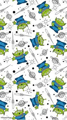 Alien Iphone Wallpaper, Iphone Wallpaper Bright, Disney Phone Wallpaper, Iphone Background Wallpaper, Cartoon Wallpaper, Dibujos Toy Story, Cute Disney Drawings, Toy Story Alien, Disney Fabric