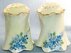 Rosenthal Hand Painted Salt & Pepper Shakers Salt Pepper Shakers, Salt And Pepper, Salt N Peppa, Fine Porcelain, Vintage Glassware, Cookie Jars, Tea Pots, Salt Cellars, Blue And White