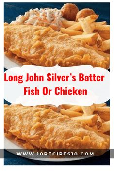 Long John Silver's Batter Fish Or Chicken – – Seafood - Fish Recipes Fish Batter Mix, Fried Fish Batter Recipe, Best Fish Batter, Tilapia Fish Fry Recipe, Fried Fish Recipes, Deep Fried Fish Batter, Fish And Chips Batter, Catfish Batter Recipe, Fish Batter Recipe Without Beer