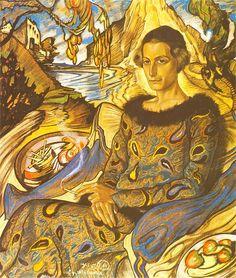 """""""Portrait of Maria Nawrocka"""" by Stanisław Ignacy Witkiewicz (Witkacy), 1925 Harlem Renaissance, Klimt, Artists Like, Art Deco, Art Party, Portrait Art, Art Google, Female Art, Contemporary Art"""
