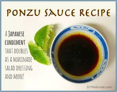 Ponzu sauce is a savory sauce made for umami foods (Japanese for pleasant savory taste.) Often served with sashimi, it also makes great marinades and more. Sushi Recipes, Sauce Recipes, Asian Recipes, Real Food Recipes, Cooking Recipes, Ethnic Recipes, Chutney, Dimsum, Sauces