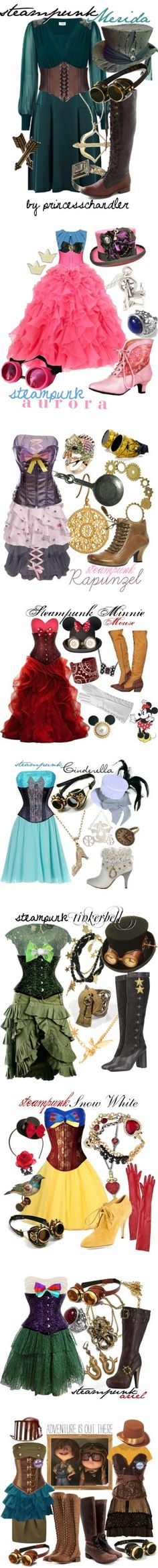 Disney Steampunk by princesschandler on Polyvore featuring Oasis, Sydney Evan, Alexis Bittar, Warehouse, Welder, Tarina Tarantino, character, disney, princess and sleeping beauty