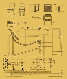 Eileen Grey chair diagrams, from www.eileengray.co.uk courtesy of ARAM