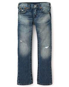 "True Religion Boys' ""Jack Slim"" Jeans - Sizes 2-7  Orig $122.00  Sale $61.00"