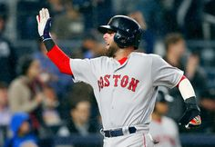 Dustin Pedroia Photos Photos - Dustin Pedroia of the Boston Red Sox reacts after scoring in the eighth inning against the New York Yankees at Yankee Stadium on September 2016 in the Bronx borough of New York City. - Boston Red Sox v New York Yankees Boston Red Sox Game, Dustin Pedroia, David Ortiz, Yankee Stadium, September 28, Fenway Park, Los Angeles Dodgers, World Series, New York Yankees