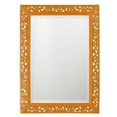 Howard Elliott Rectangle Bristol Glossy Orange Mirror