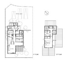 House that Coexists with the Landscape,Floors Plans