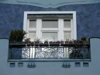 HANNOVER List belle epoque blaues Fenster blue window hanover germay