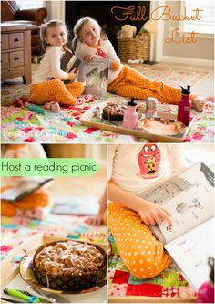 Such a cute tradition for kids: host a Welcome Fall Reading Picnic. Bake up a yummy treat and stock up on seasonal books from the library for some reading fun. Such a great way to encourage a love of reading in kids. Awesome list of fall picture books for kids too!