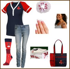 Boston Red Sox Outfit - Perfectly Beachy