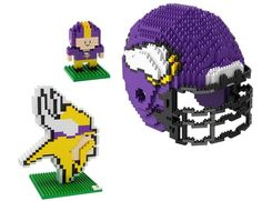 Minnesota Vikings NFL 3D BRXLZ Puzzle Collector's Set (SHIPS IN NOVEMBER)