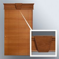 wooden blinds with cornice and keystone