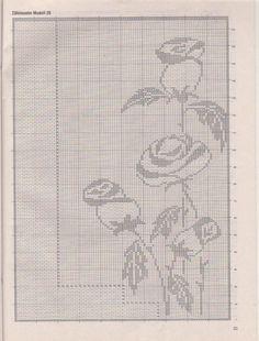 ru / Фото # 18 - Diana Spezial - D 341 Filethakeln - Maria-Nikola . - Cross stitch IT Monochrome - Filet Crochet Charts, Crochet Stitches, Lace Patterns, Easy Crochet Patterns, Crochet Doilies, Crochet Lace, Knitting Designs, Knitting Patterns, Cross Stitch Flowers
