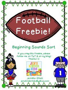 Football themed beginning sound match.