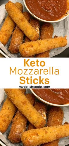 Low Carb Keto Mozzarella Sticks with Marinara Sauce carb recipes for dinner food list ohne kohlenhydrate carbohydrates carb kohlenhydrate kohlenhydrate rezepte Low Carb Recipes, Diet Recipes, Cooking Recipes, Healthy Recipes, Low Carb Meal, Keto Meal, Snacks Für Party, Keto Snacks, Keto Dinner