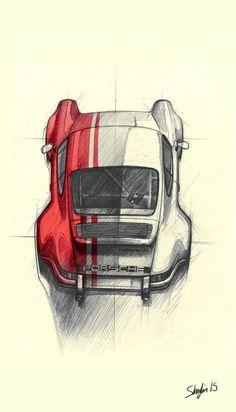 Classic Cars Poster Porsche 911 43 New Ideas Porsche Autos, Porsche Cars, Auto Poster, Car Posters, Car Design Sketch, Car Sketch, Porsche Carrera, Product Design, Drawing Techniques