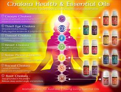 Young Living Essential Oils for Chakra Health Great graphic from Essential Oils Australia To order oils please visit: www.ylscents.com/essentialliving180