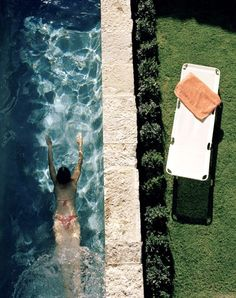 If I had a lap pool, I'd look just like this.