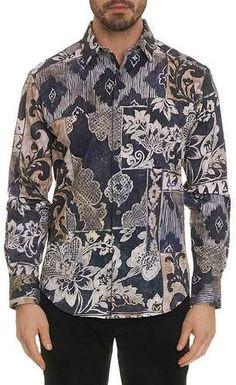 Shop Men's Gallow Long-Sleeve Sport Shirt from Robert Graham at Neiman Marcus Last Call, where you'll save as much as on designer fashions. Shirt Sleeves, Long Sleeve Shirts, Robert Graham, Designer Clothes For Men, Sports Shirts, Mens Fitness, Printed Shirts, Casual Shirts, Man Shop