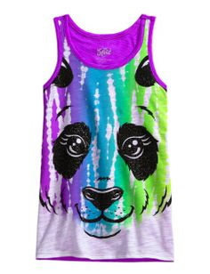 Animal Face Tank from Justice. Shop more products from Justice on Wanelo. Justice Clothing, Justice Shirts, Tween Fashion, Girl Fashion, Dance Outfits, Cool Outfits, Under Armour Outfits, Tank Girl, Kid Styles