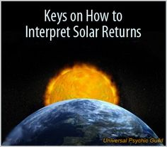 Keys on how to interpret solar returns #astrology #solarreturns