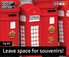 Leave space for a souvenir or two! Staycation. Travel. Holiday. UK. Packing. Bag. Britain. Red Letter Box.
