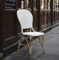 Chaise en rotin naturel blanc et fibre synthétique Sika Design 215.00€