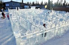 Glorious ice maze in Alaska - love the castle like feel.
