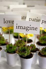 potted herbs wedding centerpieces - Google Search