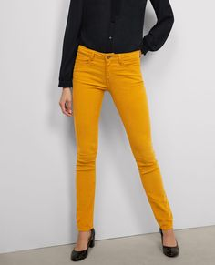 Straight-cut stretch jeans