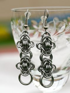 Athena  Aluminum Byzantine Earrings by EclecticArtbyCynthia, $18.00  #aluminum #earrings