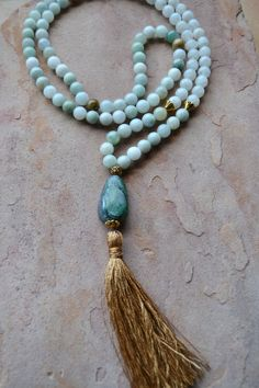 108 Bead Meditation Mala Prayer Beads AAA by GratefulHeartBazaar
