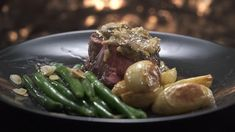 Veronica & Piper's Filet Mignon with Mushroom Sauce and Garlic Green Beans Just Cooking, Cooking Time, My Kitchen Rules, Garlic Green Beans, Brown Mushroom, Cooking Green Beans, Mushroom Sauce, Toasted Almonds, Drying Herbs
