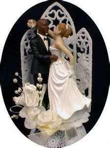 Bi Racial African American Wedding Cake Topper